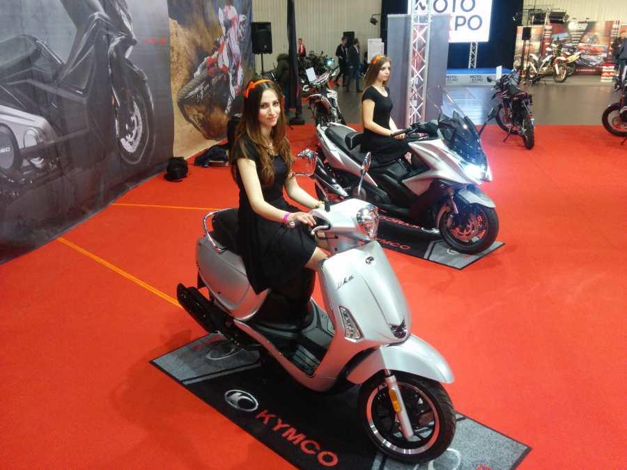 Kymco na Wystawie Motocykli i Skuterów Warszawa 2017.