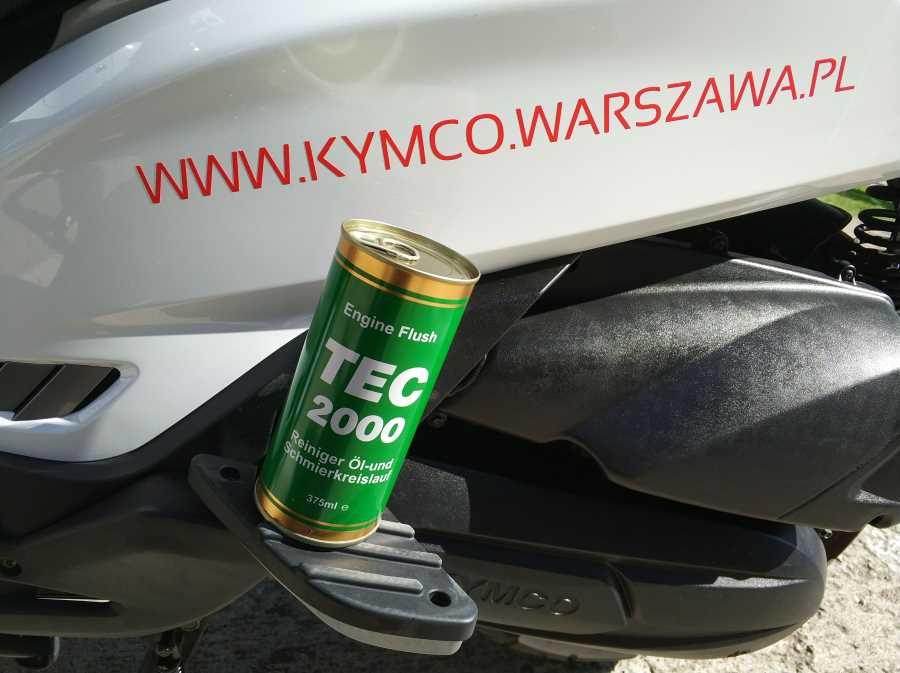 Płukanka do silnika – Engine Flush – wymiana oleju w Kymco